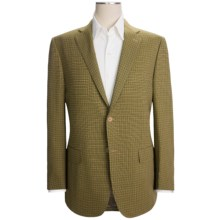 Isaia Check Sport Coat - Wool (For Men) in Olive - Closeouts