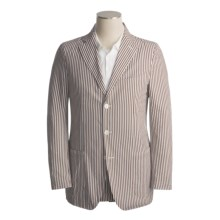 Isaia Cotton Sport Coat (For Men) in 3B/Cv/Brown/White Stripe - Closeouts