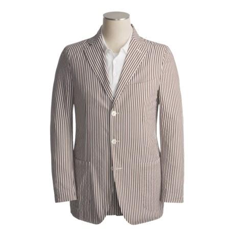 Isaia Cotton Sport Coat (For Men) in 3B/Cv/Brown/White Stripe