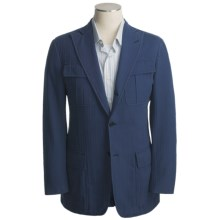Isaia Cotton Sport Coat (For Men) in 3B/Cv/Dark Blue - Closeouts