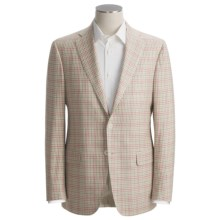Isaia Fancy Check Sport Coat - Silk-Linen-Cotton (For Men) in Natural/Red/Sage - Closeouts