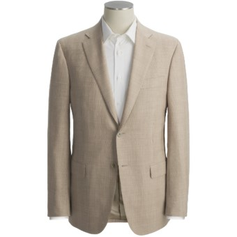 Isaia Fancy Solid Sport Coat - Linen-Wool-Silk (For Men) in Light Brown