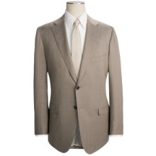 Isaia Fancy Solid Suit - Aquaspider Wool (For Men) in Beige - Closeouts