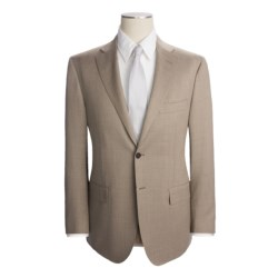 Isaia Fancy Solid Suit - Aquaspider Wool (For Men) in Beige