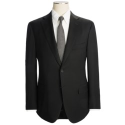 Isaia Fancy Solid Suit - Spider Wool (For Men) in Black