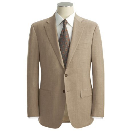 Isaia Fancy Solid Suit - Wool (For Men) in Light Beige