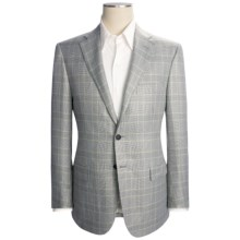 Isaia Glen Plaid Sport Coat - Rayon (For Men) in White/Grey/Green - Closeouts