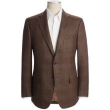 Isaia Glen Plaid Sport Coat - Wool-Silk-Linen (For Men) in Chocolate Brown/Blue - Closeouts