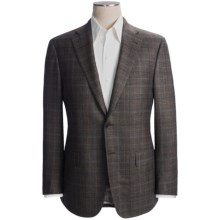 Isaia Glen Plaid with Windowpane Overlay Sport Coat - Wool-Silk Blend (For Men) in Brown/Lavender - Closeouts