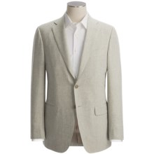 Isaia Heathered Fancy Solid Sport Coat - Linen-Wool (For Men) in Grey - Closeouts