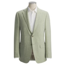 Isaia Heathered Fancy Solid Sport Coat - Linen-Wool (For Men) in Moss - Closeouts