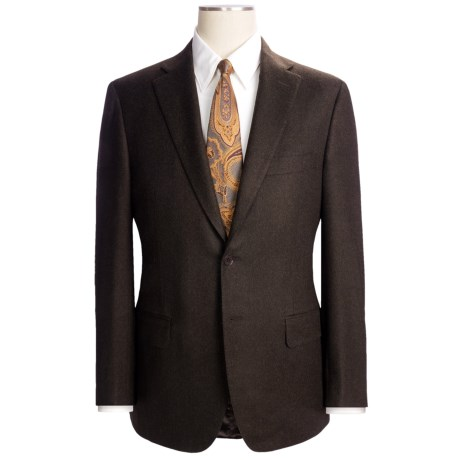 Isaia Heathered Solid Suit - Wool-Cashmere (For Men) in Deep Brown