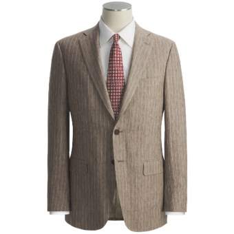 Isaia Heathered Stripe Suit - Linen (For Men) in Brown/Natural