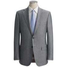 Isaia Heathered Stripe Suit - Linen (For Men) in Charcoal/Blue - Closeouts