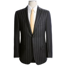 Isaia Heathered Stripe Suit - Wool-Cashmere (For Men) in Black - Closeouts