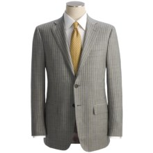 Isaia Heathered Stripe Suit - Wool (For Men) in Light Grey/Cream - Closeouts