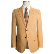 Isaia Heathered Suit - Linen (For Men) in Gold - Closeouts