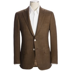 Isaia Herringbone Sport Coat - Wool-Cashmere-Silk (For Men) in Brown/Black