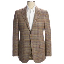 Isaia Houndstooth Plaid Sport Coat - Wool (For Men) in Tan Multi - Closeouts