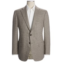 Isaia Houndstooth Sport Coat - Wool-Angora-Cashgora (For Men) in Cream/Brown - Closeouts