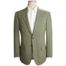 Isaia Houndstooth Sport Coat - Wool (For Men) in Cream/Green - Closeouts