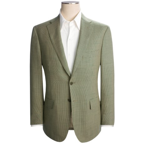 Isaia Houndstooth Sport Coat - Wool (For Men) in Cream/Green