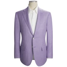 Isaia Houndstooth Sport Coat - Wool (For Men) in Lilac/White - Closeouts