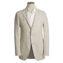Isaia Linen-Rich Sport Coat (For Men) in 3B/Cv/Linen/Cotton/Tan/Ivory Stripe - Closeouts