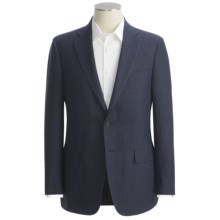 Isaia Micro-Check Sport Coat - Linen (For Men) in Navy - Closeouts