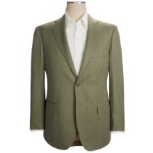 Isaia Mini-Check Sport Coat - Wool (For Men) in Light Olive/Blue - Closeouts
