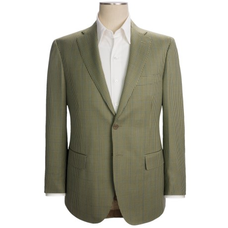 Isaia Mini-Check Sport Coat - Wool (For Men) in Light Olive/Blue