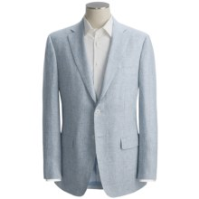 Isaia Mini-Houndstooth Sport Coat - Linen (For Men) in Blue/White - Closeouts