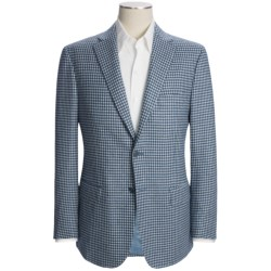 Isaia Multi-Check Sport Coat - Wool-Cashmere (For Men) in Blue/White