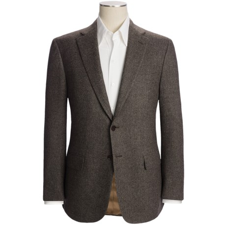 Isaia Multi-Check Sport Coat - Wool-Cashmere (For Men) in Med Brown