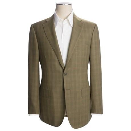 Isaia Multi-Check Sport Coat - Wool (For Men) in Med Olive/Beige