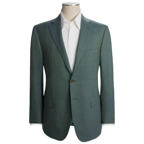 Isaia Multi-Check Sport Coat - Wool (For Men) in Mint/Green/Blue