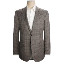 Isaia Multi-Check Sport Coat - Wool-Silk (For Men) in Black/White/Salmon