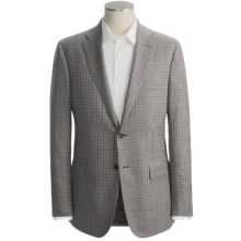 Isaia Multi-Check Sport Coat - Wool-Silk (For Men) in Brown/Blue/White - Closeouts