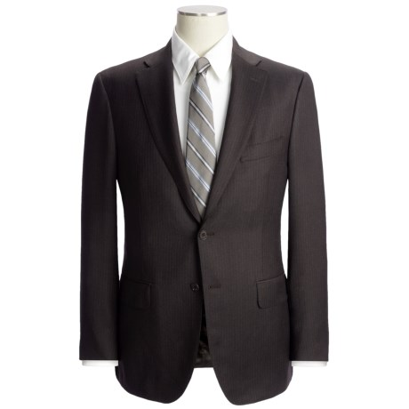 Isaia Multi-Stripe Suit - Wool (For Men) in Dark Brown/Blue