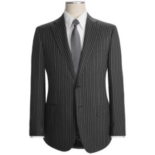Isaia Multi-Stripe Suit - Wool (For Men) in Dark Charcoal/Egg Shell - Closeouts