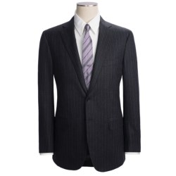 Isaia Multi-Stripe Suit - Wool (For Men) in Dark Charcoal