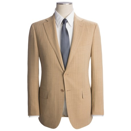 Isaia Multi-Stripe Suit - Wool (For Men) in Sand/Beige
