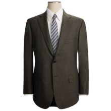 Isaia Nailhead Suit - Wool (For Men) in Black/Taupe - Closeouts