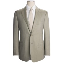 Isaia Rope Stripe Suit - Wool (For Men) in Taupe - Closeouts