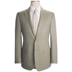 Isaia Rope Stripe Suit - Wool (For Men) in Taupe