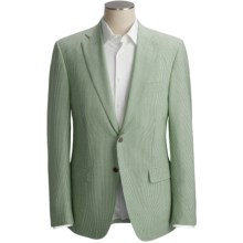 Isaia Seersucker Sport Coat - Wool-Silk (For Men) in Sage Stripe - Closeouts