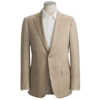 Isaia Small Herringbone Sport Coat - Wool-Silk (For Men) in Tan