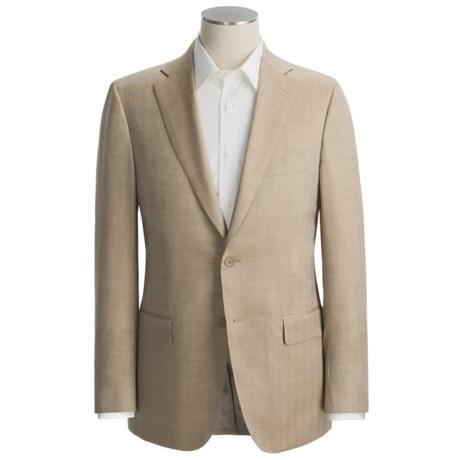 Isaia Small Herringbone Sport Coat - Wool-Silk (For Men) in Tan