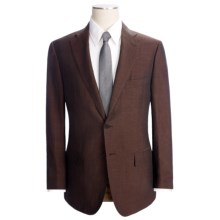 Isaia Solid Fancy Suit - Silk-Linen (For Men) in Deep Burgundy - Closeouts