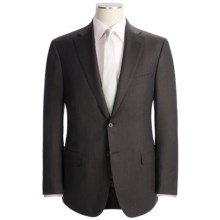Isaia Solid Fancy Wool Suit (For Men) in Dark Brown - Closeouts